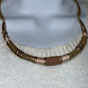 Chico's Mixed Media Wrapped Collar Style Necklace